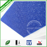 Blue Large Polycarbonate Sheets Roof Policarbonato Embossed Diamond Sheeting