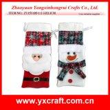 Christmas Decoration (ZY15Y105-1-2) Wine Bag for Christmas Wine Christmas Tree Stand