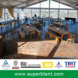 Clear Span Tent with Glass Wall