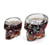 Whisky Glass/Doomed Crystal Skull Shot Glass/Crystal Skull Head Vodka Shot Wine Glass Novelty Cup