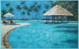 Heavy Painted Mediterranean Sea Paintings of High Quality (LH-010000)