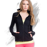 Women Outdoor Dry Fit Jacket Gym Fitness Sportswear with Thumbhole