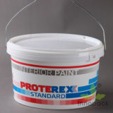 15L Oval Plastic Bucket Paint Container with Heat Transfer Printing (PPP15L002FS)