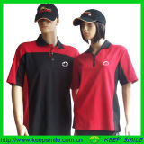 Company Uniform Polo Shirts with Cotton Polyester Mesh Fabric