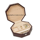 High Gloss Hand Crafted Octagon Mahogany Jewelry Gift Box
