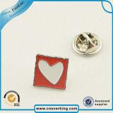 Silver Plated Souvenir Lapel Pin Metal Engraved Round Enamel Badge