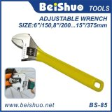 Forging Adjustable Wrench with Rubber Handle