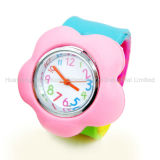 Cartoon Silicone Kids Slap Watch (HXW08)
