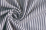 Darknavy/White Classical Stripe Plain Polyester Cotton Shirt Fabric
