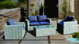 Wicker Sofa Outdoor Rattan Furniture with Chair Table Wicker Furniture Rattan Furniture with Chair and Table Furniture (Hz-BT133)