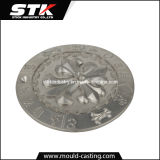 Zinc Alloy Logo Plate by Pressure Casting
