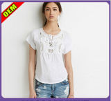 Fashion Sexy Cotton Printed T-Shirt for Women (W280)