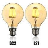 Vintage LED Light Bulb Edison Bulb E27 B22 G80 Dimmable