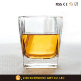 2017 Hand Blown Square Bottom Whisky Glass Manufacture Clear Drinking Glass