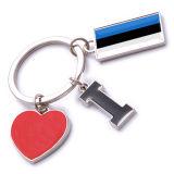 New Custom Metal Souvenir Estonia Keyring