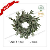 18′′ Factory Christmas Decorative Flowers&Wreaths Christmas Decorations Glass Craft