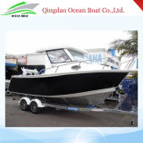 6.85m 23FT Ce Approved Marine Grade Alunimum Power Boat with Closed Cabin