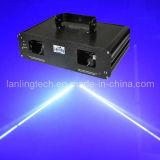 Double 1W 450nm Blue Laser Light, 2 Head Fat Beam Laser Show Ld2486