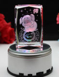 Beauty Engraving 3D Laser Crystal 3D Glass Photo Cube for Gift