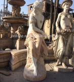Marble Garden Woman Sculpture