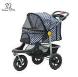 Blue Dots 3 Wheels Duranble Pet Stroller for Dog and Cat