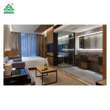 5 Star Luxury Hotel Bedroom Furniture King Size Headboard / Solid Walnut