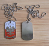 Soft Enamel Polska Country Flg Dog Tag Necklace