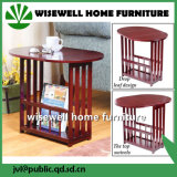 Wooden Swivel End Table with Drop Leaf (WJD-1052)