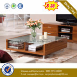Modern High Gloss MDF Glass Coffee Table Hx-CT0058)