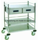 Stainless Steel Hospital Trolley (HS-010)