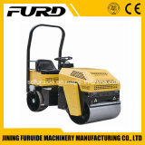 Double Drum 1 Ton Compactor Vibratory Roller with Famous Diesel Engine (FYL-880)