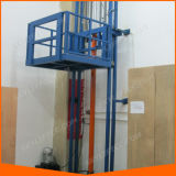 Electric Multi-Point Control Wall Mounted Guide Rail Cargo Lift