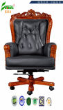 Swivel Leather Executive Office Chair with Solid Wood Foot (FY1099)