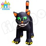 Halloween Party Air Blown Yard Decoration Standing Inflatable Black Cat