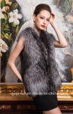 2014 Autumn&Winter Warm New Silver Faux Fur Vest Gilet Outerwear Womens Fashion Fur Coat