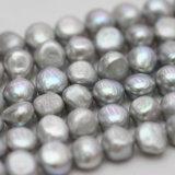 10-11mm Gray Baroque Nugget Biwa Freshwater Pearls Strands (E190018)