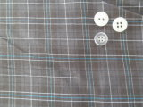 Grey Checks Polyester / Cotton Woven Fabric
