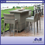 Barstool Patio Flat Wicker Alum Bar Table Chair Outdoor Furniture (J374-Bar)