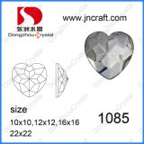 Decorative Faceted Flat Back Heart Crystal Glass Stone for Wedding Dress