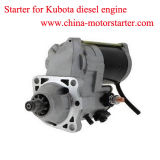 1.0kw 9teeth Denso Auto Spare Parts for Kubota Diesel Engine