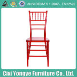 Transparent Red Plastic Chiavari Chair for Rental Party