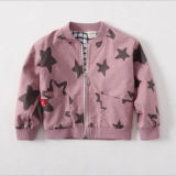 Fashion Jacket with Printed Stars for Children's Clothes