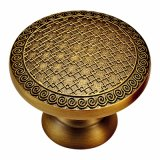 Solid Forged Brass Furniture Knob and Handle with Gold Line Patterns