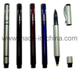 Aluminium Ball Pen and Highlighter Marker 2 in 1 Pen Y091