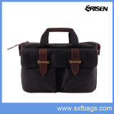 New Fashion Elegant Custom Gift Canvas Leather Computer Laptop Bag