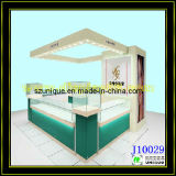 Tempered Glass Used Jewelry Kiosk with LED