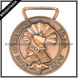 Custom Metal Bronze 3D Sports Medal with Ribbon (BYH-10841)