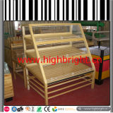 Supermarket Store Fixtures Wood Bakery Display Stand