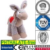 Children Gift Soft Stuffed Animal with Saddle Donkey Plush Toy
