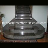 Indoor Building Staircase Step, Black Granite Stone Stair Treads